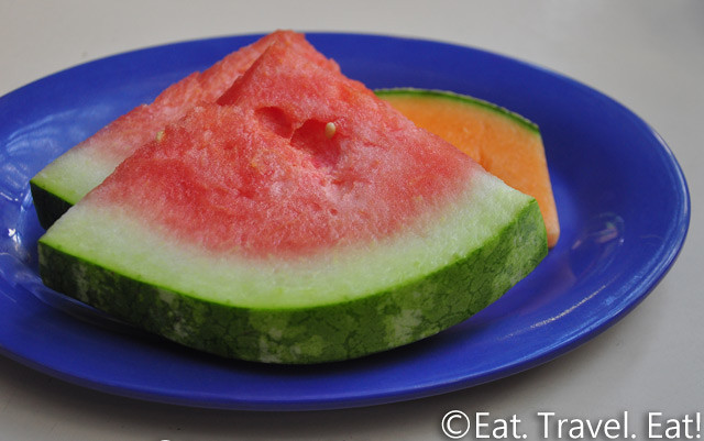 UC Irvine Pippin Commons- Irvine, CA: Watermelon and Cantoloupe