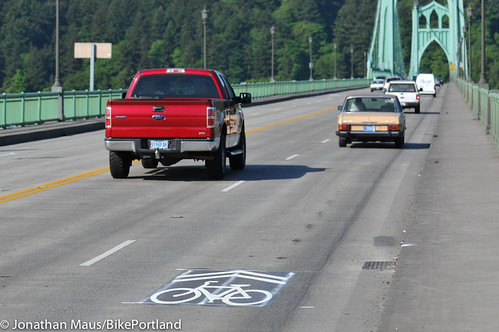 sharrows on St Johns Bridge-3