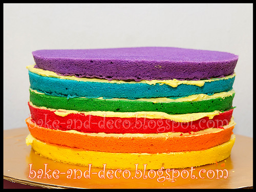 Italian Rainbow Cake + Lapis Cheezy + Blackforest Cream Truffle ~ 19 March 2012