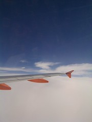 wing over high cloud cover