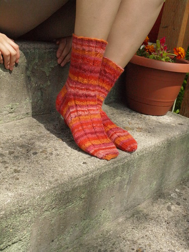 Faux Cable Socks