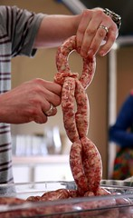 sausage, charcuterie, salt-cured meat, food, dish, flesh, kielbasa, cooking,