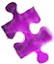 Purple Banner Puzzle Piece