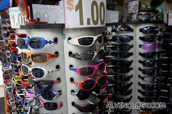 $1 sunglasses!