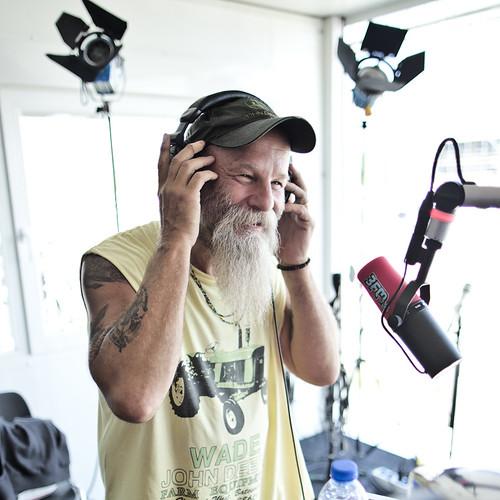 Pinkpop 2012 mashup foto - Seasick Steve in de 3FM-studio