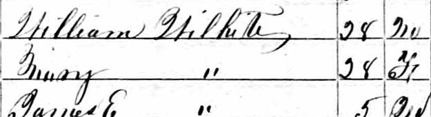 1850 Census Mary McGibboney