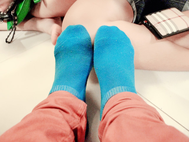 my blue socks