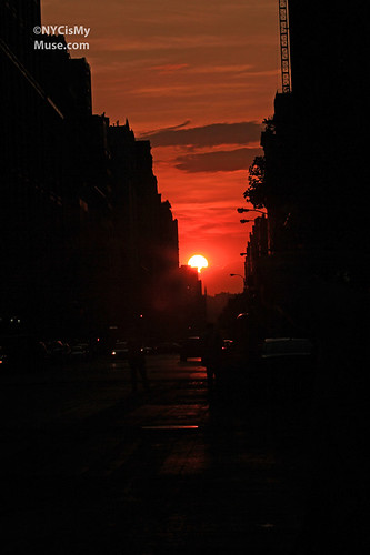 Manhattanhenge - Full Sun (though partially obscured) - 5/30/12 - 23rd & 5th
