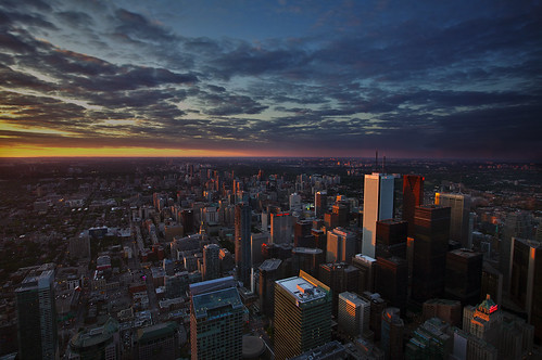 Sunset from CN Tower