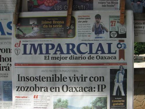 Insostenbile vivir con zozobra @ Oaxaca 06.2012