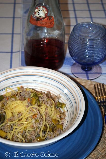 Spinobelli con asparagi, zucchine e salsiccia (2)