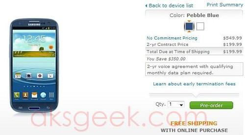 AT&T SAmsung Galaxy S III