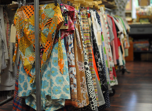 vintage skirts at amalgamated clothing and dry goods