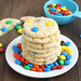 Chewy M&M Sugar Cookies