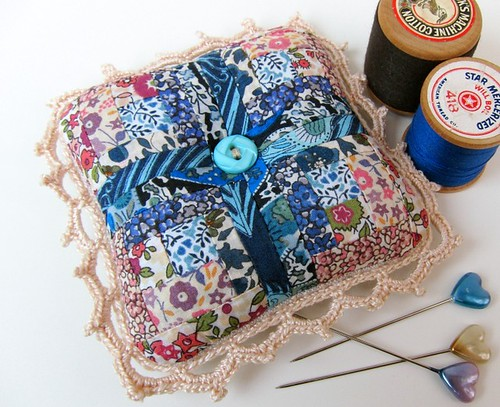Liberty print pincushion