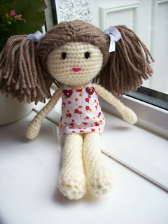 Finished doll all dressed up.
