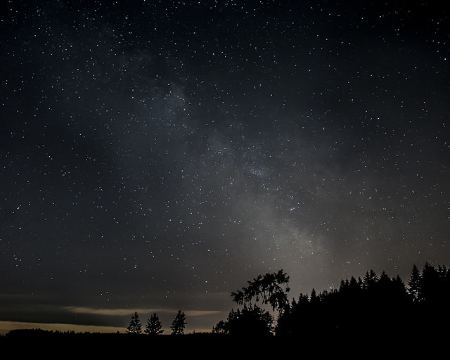 The Milky Way over Chehalem Mountain
