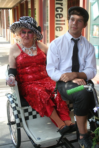 Darcelle in a Pedicab