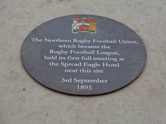 Photo of Lancashire Rugby Football Union grey plaque
