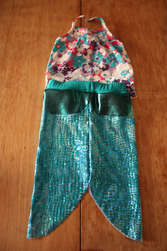 Mermaid costume in progress