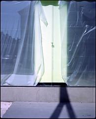 window treatment, blue,