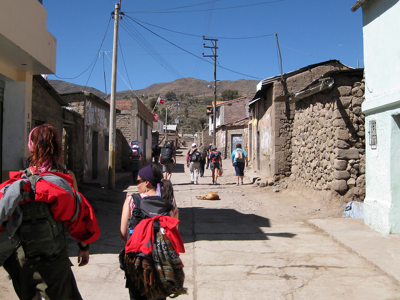 The group departs Cabanaconde - Colca Canyon Trek - Peru