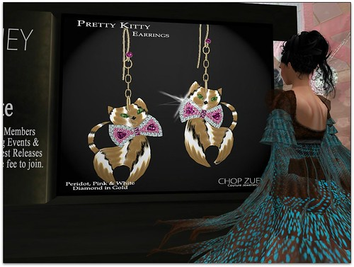 Chop Zuey Gift  - Pretty Kitty Earrings by Cherokeeh Asteria