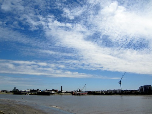 North Greenwich shore and sky