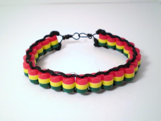 rasta bead bracelet flickr photo