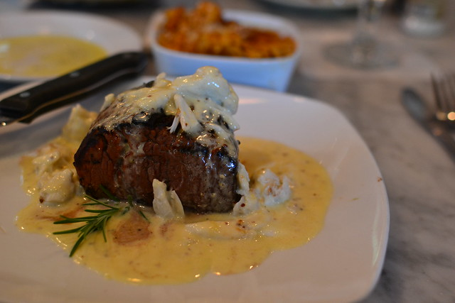 Filet with Sherry Dijon Crab Cream