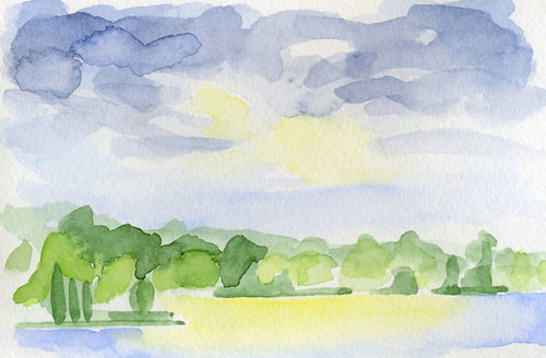 Outdoor Watercolor Sketch