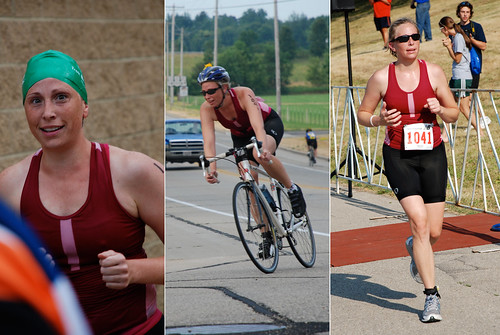 Erin races in the Verona triathlon