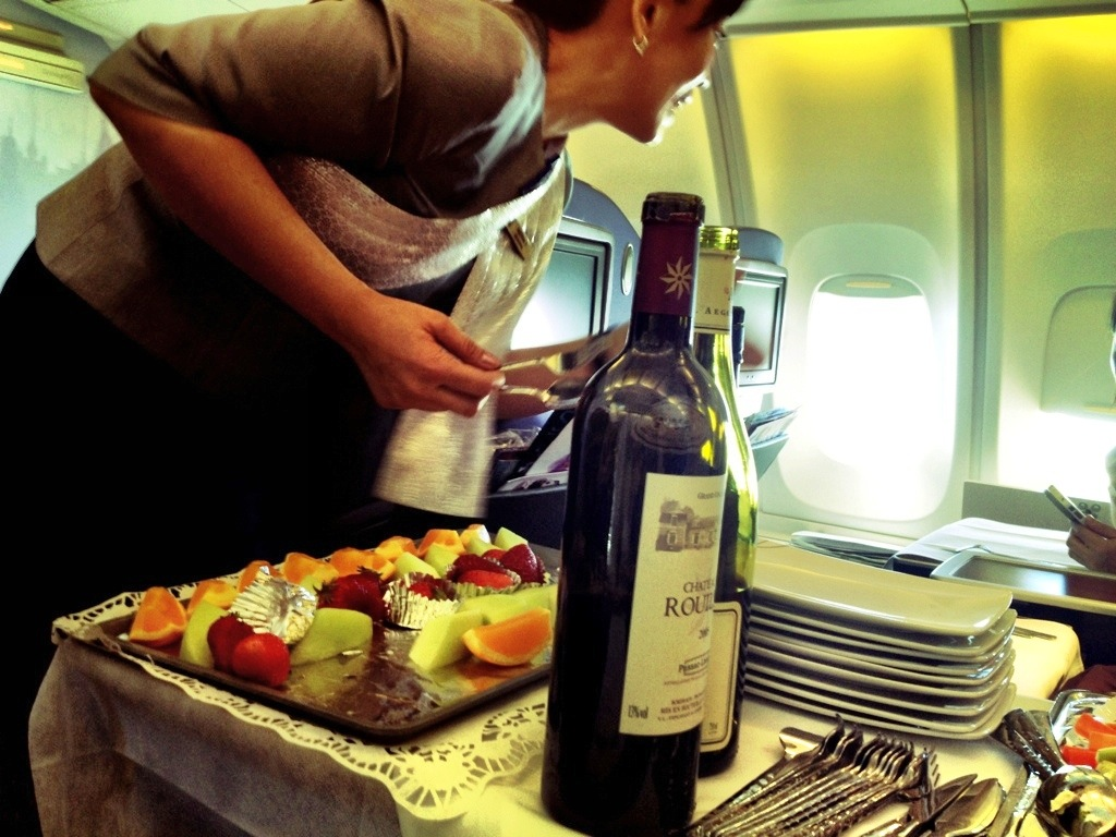 Business class service Thai Airways
