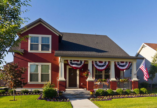 Americana Decorated Modern Red House