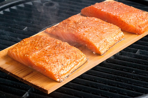 Grilling Planked Salmon