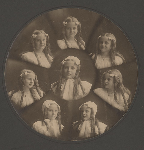 Edith Winters*, Pretty Girl with Ringlets X 8 - Multiple Print of Vignettes c. 1905 by Photo_History