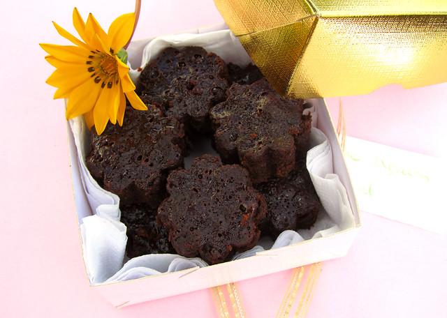 caixa com brownie