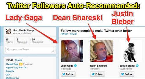 Follow Lady Gaga, Dean Shareski & Justin Bieber