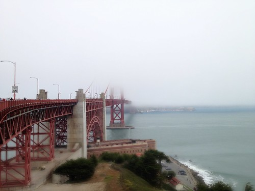 Foggy Orange Bridge