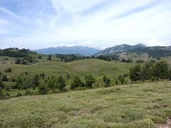 Traversée Croce-Frauletu : en vue des pistes de Frauletu provenant de Matalza