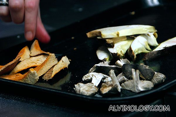 Assorted wild mushrooms