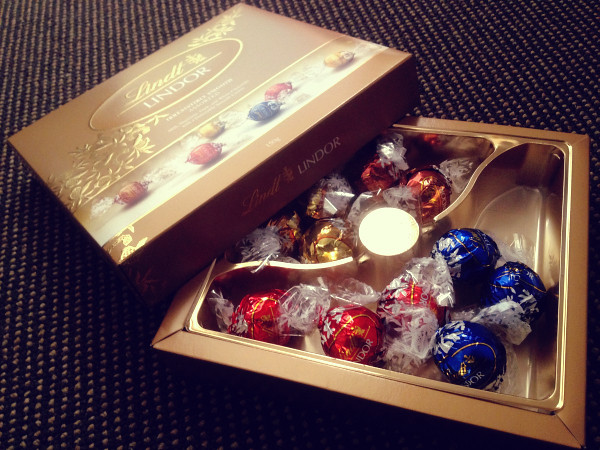 Lindt's White, Milk, Hazel and Dark Chocolate