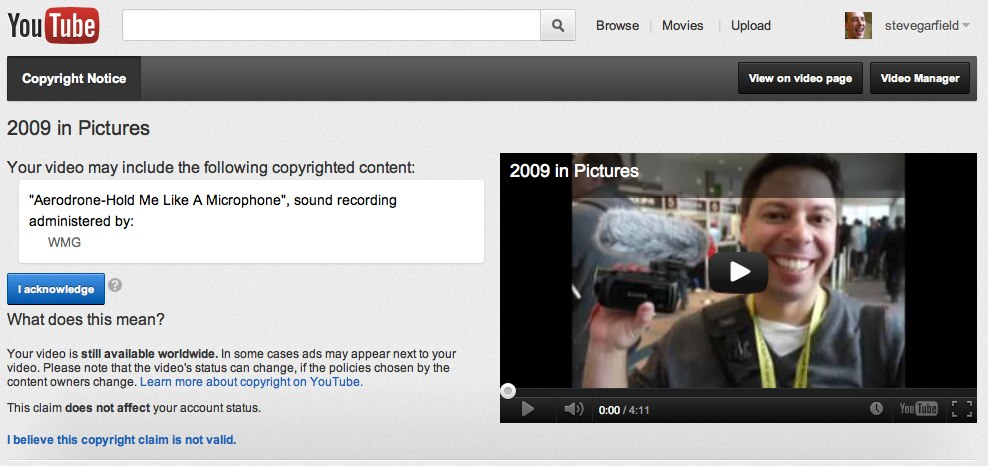 YouTube - Broadcast Yourself. Copyright Notice