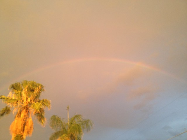First Full Rainbow of 2012 In Tucson, Arizona, USA