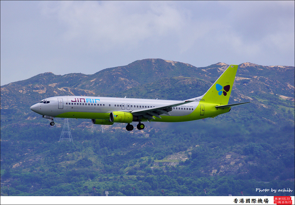 JIN AIR / HL7555 / Hong Kong International Airport