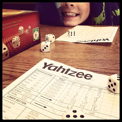 JPAD: 21: 9 o'clock. Yahtzee with Zach!