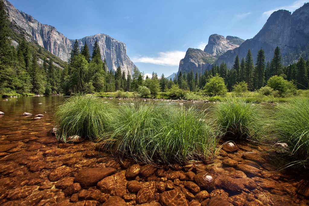 Merced River Bed in Yosemite Valley