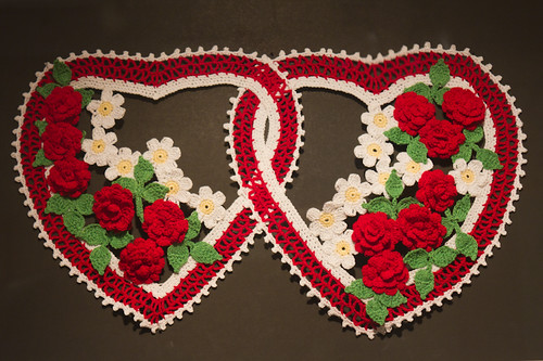 Double Hearts with Flowers