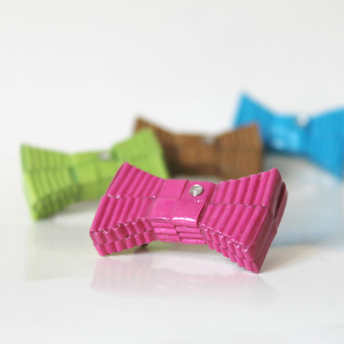 Geometric Paper Bow Brooch