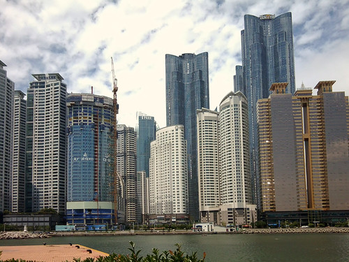 Tower blocks, Haeundae beach
